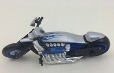 Motorcycle Silver Blue Flames Toy Hot Wheels Mattel Diecast Hotwheels 2003
