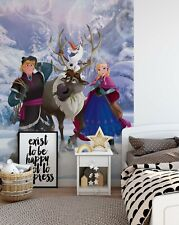 Disney kids wallpaper mural 254x184cm photo wall decor Anna Kristoff Frozen Blue