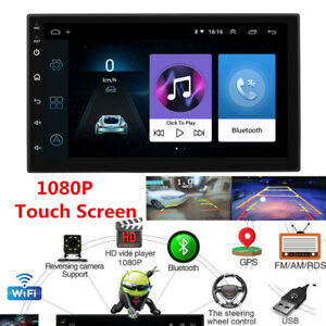 """Android 8.1 7"""" 2 DIN Car GPS Bluetooth Stereo Radio FM MP3 MP5 Player Multimedia"""