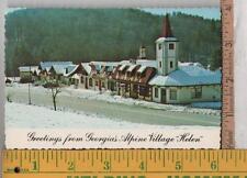 Vintage  UNUSED POST CARD ALPINE VILLAGE MAIN STREET, HELEN, GA