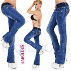 New Sexy Womens Jeans Size 10 12 14 2 4 6 8 XS S M L XL Low Rise Bootleg Cut