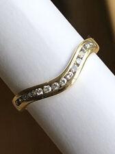 9ct gold diamond shaped eternity ring 15 diamonds (0.225ct) 2.00g size M 1/2