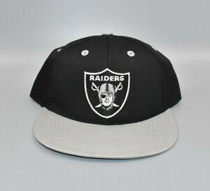 Las Vegas Oakland Raiders Vintage 90's Twins Enterprise Snapback Cap Hat - NWT