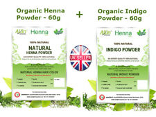 1x60G ORGANIC HENNA POWDER + 1x60G INDIGO POWDER - NATURAL HAIR COLOR/DYE KIT