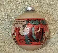 Vtg 1965 Hallmark Peanuts Glass Ornament Shultz Snoopy Charlie Brown Woodstock