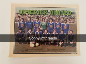 Limerick United Poster Team Group Poster, 1980s, A4.