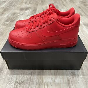 NEW AIR FORCE 1 '07 LV8 1 TRIPLE RED SIZE 9 Men / 10.5 Women
