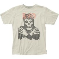 Authentic The Misfits Classic Fiend Skull Distressed Vintage Soft T-shirt top