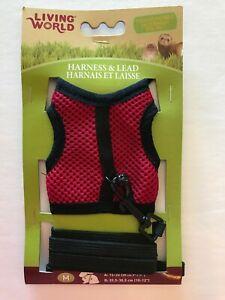 Living World Ferret Harness & Lead Set Walking Jacket - Medium - 60866 Red