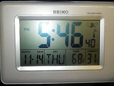 "SEIKO- ""R-WAVE"" RADIO CONTROLLED WALL OR DESK CLOCK QHR020WLH"