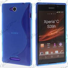 Accessories Case Cover TPU S Silicone Gel S-LINE Blue sony Xperia C S39H