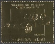 Zambia GOLD CITROEN-MASERATI/Car/Motoring/Transport/Motors/Classic 1v (n10892)