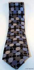 """Michael Kors Men's 100% Silk Neck Tie Necktie Gray Blue 3 1/2"""" Dot Pack"""