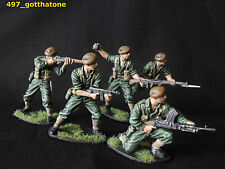 airfix 1/32 professionally converted + painted Australian/Anzac soldiers ww2 .