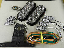 Trailer LED Light kit, Clear lens Optronics Stop Turn Tail, Utility,boat Submers