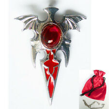 NEW VAMPIRE BLOOD AMULET Bat Stake Pendant Necklace by Children of the Night