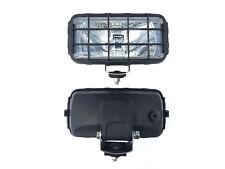 2x Fernscheinwerfer H3 Halogen 195x95x88 12V 24V mit Schutzgitter und Glühbirnen