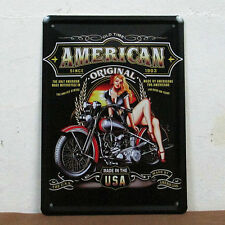 Unbranded Tin Motorcycle Decorative Plaques & Signs