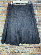 Charter Club A-Line Black & Brown Pattern Skirt Size 8 Career Casual Comfort