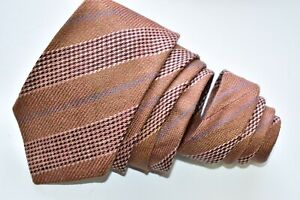 """Etro Milano Brown  Men's Neck Tie W: 3 1/4"""" by L: 60 """" made in ITALY"""
