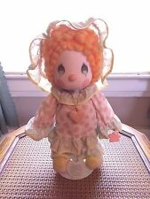 """1985 Precious Moments Doll """"Peggy"""" Girl Clown by Applause  With Stand"""