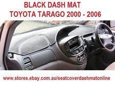 DASH MAT, BLACK DASHMAT FIT  TOYOTA TARAGO 2000 - 2006, BLACK