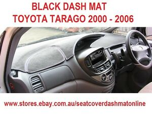 DASH MAT, BLACK DASHMAT, DASHBOARD, COVER  FIT  TOYOTA TARAGO 2000 - 2006, BLACK
