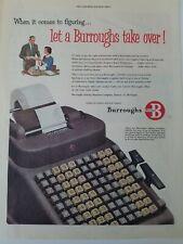 Vintage Burroughs Adding Machine Calculator Stick-on Nameplates