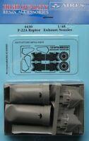 AIRES 1/48 F-22A Raptor tuyères d'échappement pour ACADEMY KIT #4430
