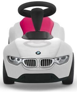 BMW Baby Racer III weiß/himbeerrot Bobby Car Rutschauto Geschenk