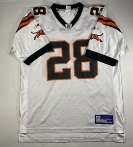 Corey Dillon #28 Cincinnati Bengals Sz Large NFL Equipment Reebok Jersey White