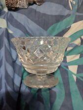 vintage clear glass desert bowl 10cm diameter 8cm high