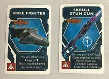 Captain Marvel Secret Skrulls Kree Fighter and Skrull Stun Gun Promo Cards New