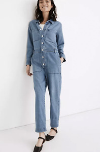 Madewell $148 Denim Relaxed Coverall Jumpsuit in Glenroy Wash Size S MC932