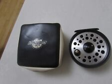 """V Good Vintage Youngs Early beaudex Trout Fly Fishing Reel 3.5"""" lineguard + étui"""
