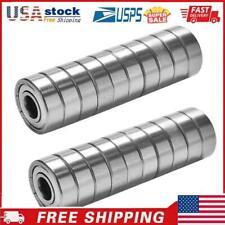 20pcs 608zz Carbon Steel Single Row 8x22x7mm Abec 7 Miniature Ball Bearings