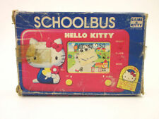 80s TOMY HELLO KITTY SCHOOL BUS *BOXED* HANDHELD GAME WATCH RETRO VIDEO LCD JEU