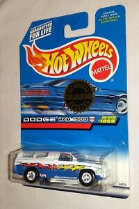 Hot Wheels Dodge Ram 1500 Collector #1059 Special Trailer Edition White Flames