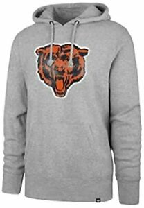 Chicago Bears Men's Throwback Legacy Logo Pullover Hoody Sweatshirt - Gray