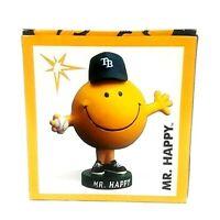 MR HAPPY TAMPA BAY RAYS BASEBALL BOBBLE HEAD FIGURE COLLECTIBLE New In Box