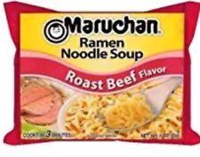 6 Pack Roast Beef Ramen Noodle Soup Maruchan Travel To Go