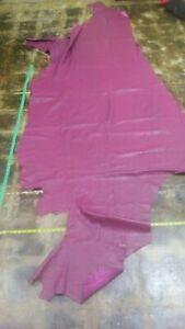 Buffalo leather hide skin MAGENTA 80''x 40'' inch Rack #95 (pic:a few  marks