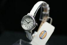 FOSSIL Damenuhr BQ1203 Lederarmband weiß top Uhr EDEL rund zierlich silber NEU