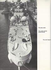 ☆ USS NEW JERSEY BB-62 DREADNOUGHT RETURNS BOOK YEAR LOG 1969 - NAVY ☆