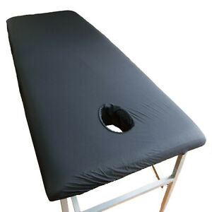 Waterproof Massage Sheet with Facehole for Table Black Colour Safe Against Oil