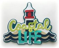 COASTAL LIFE TITLE BEACH SUMMER PREMADE PAPER PIECING 3D DIE CUT MYTB  KIRA