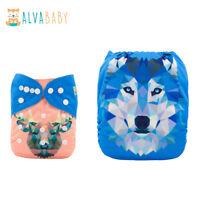 ALVA Cloth Diaper One Size Washable Reusable Pocket Nappy +1Insert