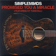 SIMPLE MINDS - PROMISED YOU A MIRACLE - RARE PROMO ONLY CD (ACOUSTIC)