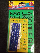 Prmeier 4 Piece of Stencil Set Letters Alphabet Craft Number Learning Lettering