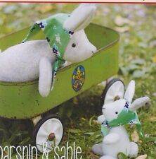 PATTERN - Parsnip & Sable - cute felt bunnies softie PATTERN - May Blossom
